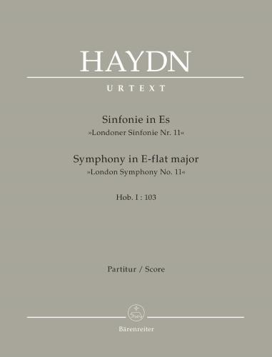 SYMPHONY No.103 in Eb major 'Drumroll' (full score)