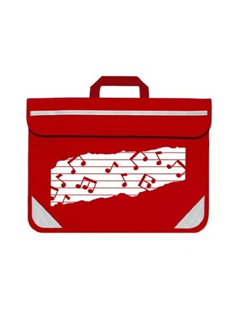 MUSIC BAG DUO Music Notes (Red)