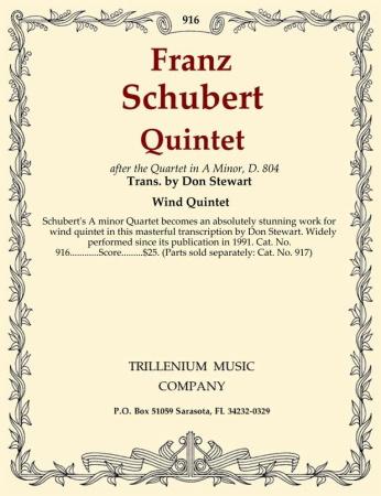 QUINTET (after the Quartet in a minor D804) score