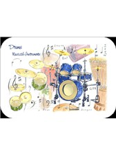 PLACEMAT Drums (Pack of 4)