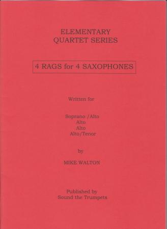 FOUR RAGS for Four Saxophones score & parts