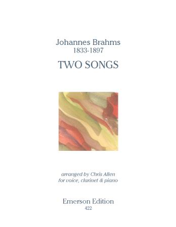 TWO SONGS Op.91 No.1 & No.2