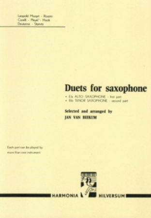 DUETS FOR SAXOPHONES (playing score)