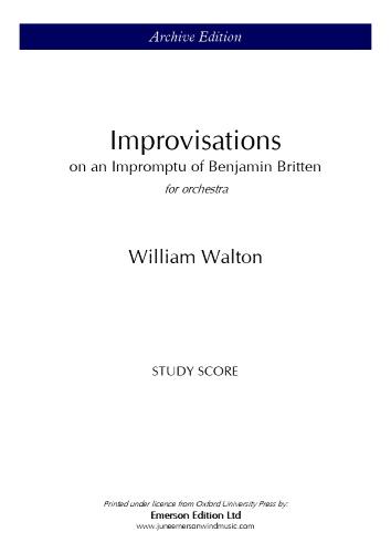 IMPROVISATIONS on an Impromptu of Benjamin Britten (study score)