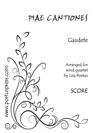 GAUDETE (score & parts)