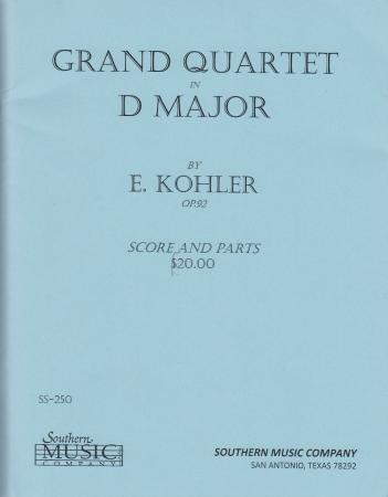 GRAND QUARTET in D major Op.92 score & parts