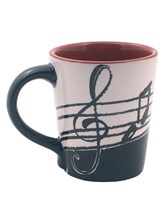 LATTE MUG Music Notes