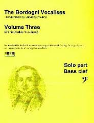 BORDOGNI VOCALISES Volume 3 + CD (bass clef)