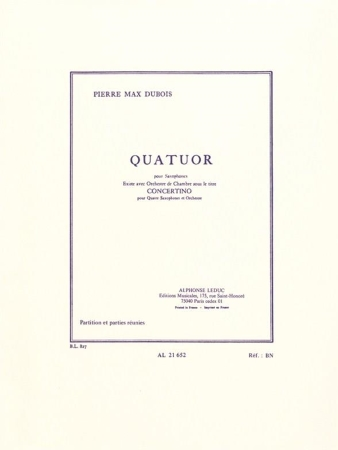 QUATUOR (score & parts)