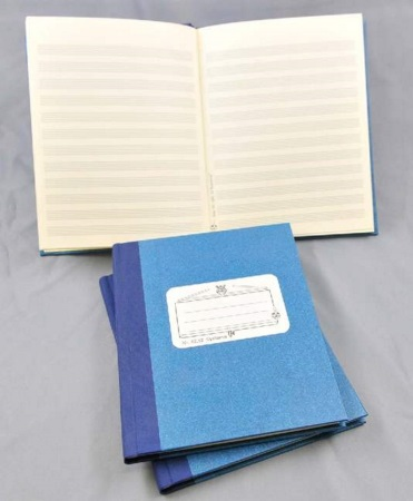 MUSIC MANUSCRIPT BOOK 12 staves, 96 pages