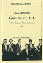 QUINTET in Bb major, Op.1 score & parts