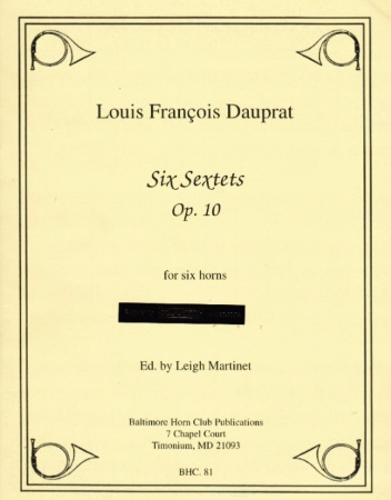 SIX SEXTETS Op.10 (score & parts)