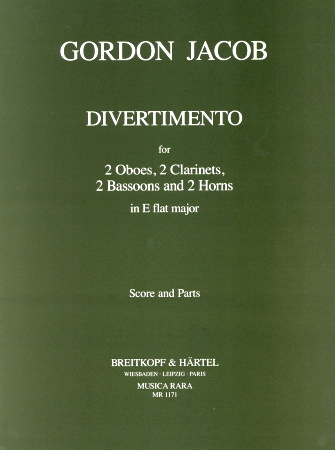 DIVERTIMENTO in Eb major (score & parts)