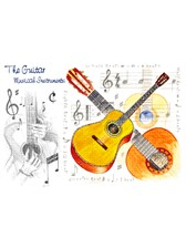 GREETINGS CARD Guitar Design (7in x 5in)
