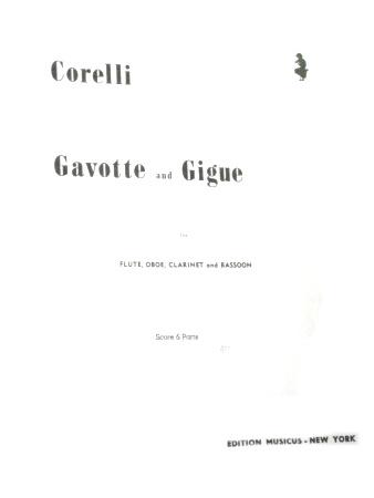 GAVOTTE AND GIGUE (score & parts)