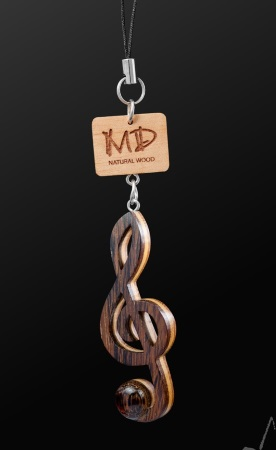 WOODEN STRAP Treble Clef