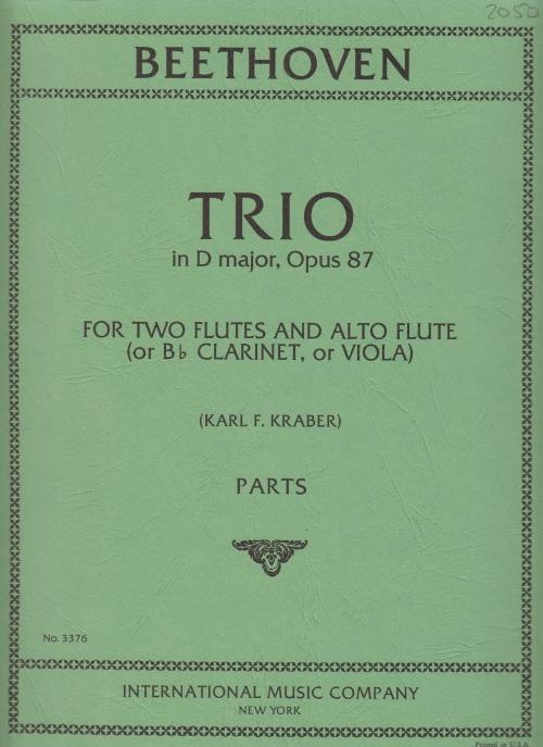 TRIO in D major Op.87 (set of parts)
