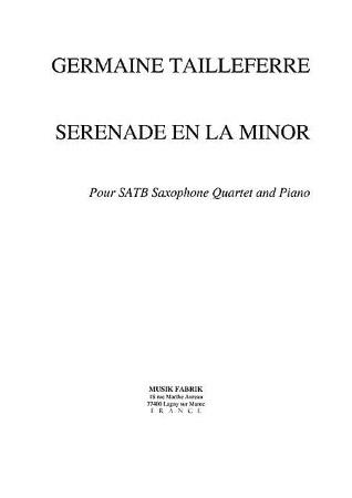 SERENADE in A minor
