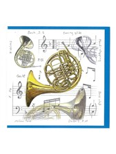 NOTELETS French Horn Design (Pack of 5)