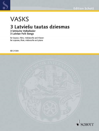 THREE LATVIAN FOLKSONGS score & parts
