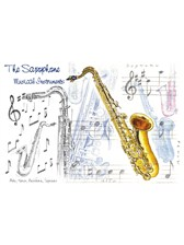 GREETINGS CARD Saxophone Design (7in x 5in)