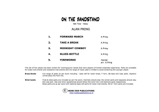ON THE BANDSTAND Set 2 (score & parts)