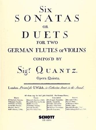 SIX SONATAS OR DUETS Op.5