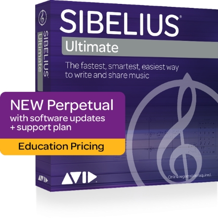 SIBELIUS Ultimate Perpetual licence + 1 year of Support and Updates - Student/Teacher (Boxed)