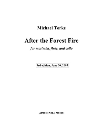 AFTER THE FOREST FIRE score and parts