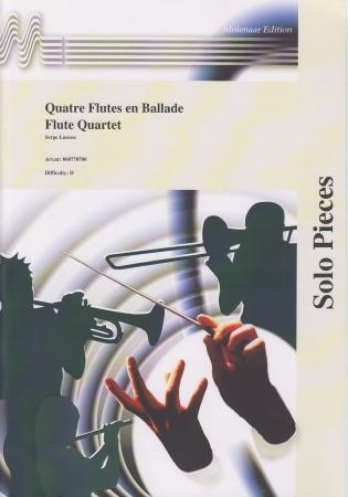 QUATRE FLUTES EN BALADE score and parts