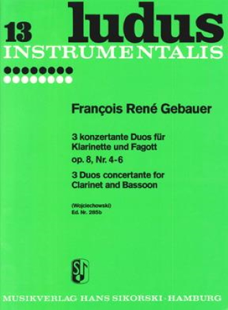 THREE DUOS CONCERTANTS Op.8 Nos.4-6