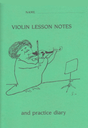 VIOLIN LESSON NOTEBOOK & PRACTICE DIARY