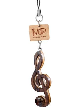 TREBLE CLEF Wooden Instrument Strap