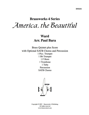 AMERICA THE BEAUTIFUL score & parts
