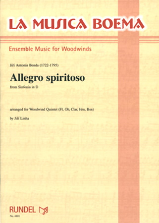 ALLEGRO SPIRITOSO from Sinfonia in D score & parts
