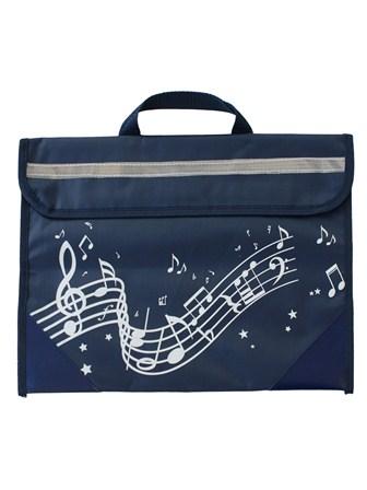 MUSIC BAG Wavy Stave (Navy Blue)