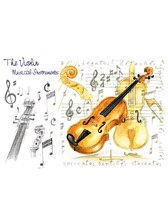 GREETINGS CARD Violin Design (7in x 5in)