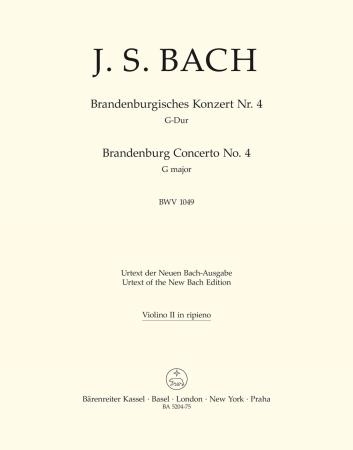 Brandeburg Concerto No.4 - Violin 2