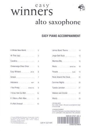 EASY WINNERS Easy Piano Accompaniment