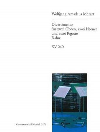 DIVERTIMENTO No.9 in Bb major KV240 (parts only)