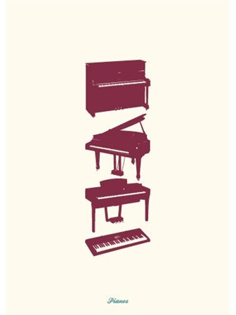 GREETING CARD Pianos
