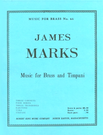 MUSIC FOR BRASS AND TIMPANI score & parts