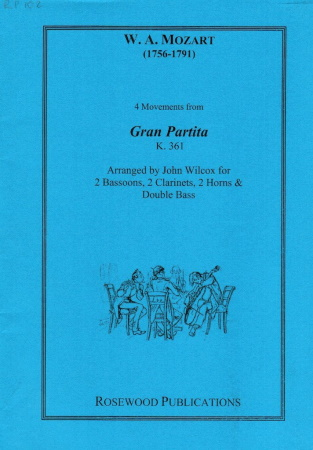 FOUR MOVEMENTS FROM GRAN PARTITA K361 (score & parts)