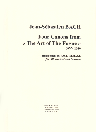4 CANONS from The Art of The Fugue BWV1080