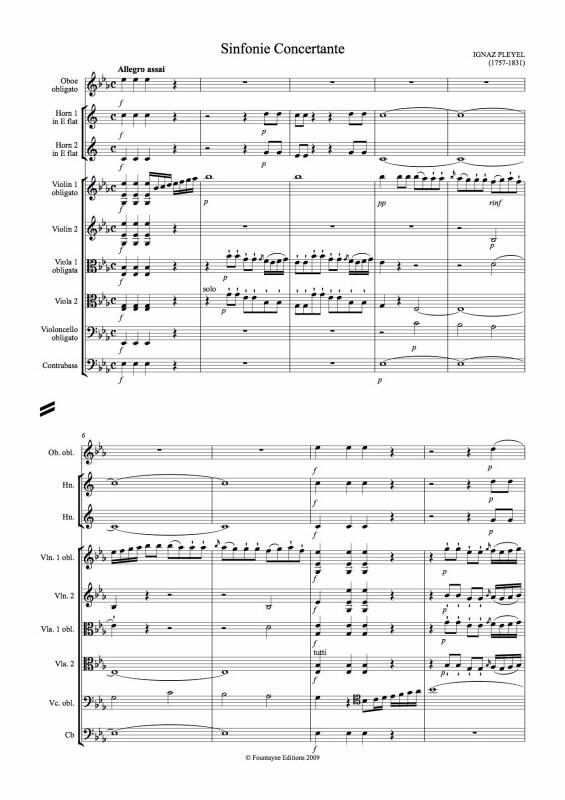 SINFONIE CONCERTANTE Score (staple-binding)
