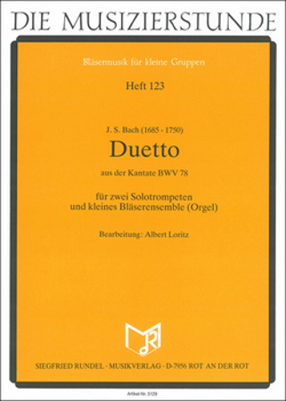 DUETTO from Cantata BWV78 two solo trumpets
