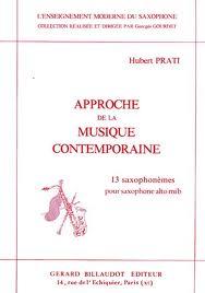 APPROCHE DE LA MUSIQUE CONTEMPORAINE 13 Saxophonemes (Book 2)