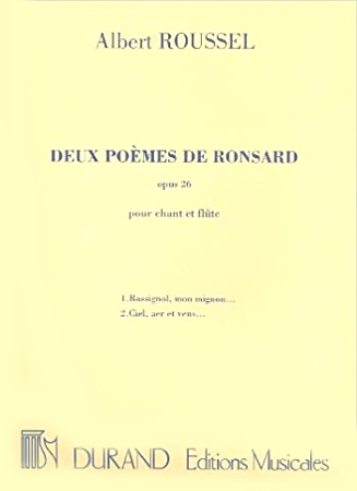 DEUX POEMES DE RONSARD Op.26