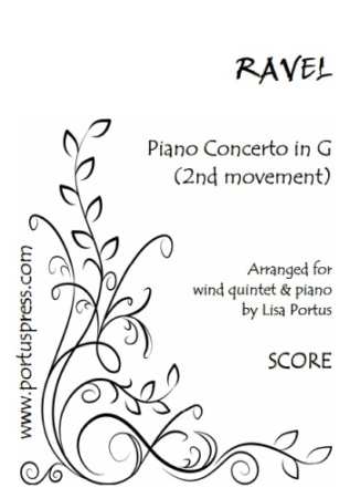 PIANO CONCERTO in G major, 2nd Movement (score & parts)