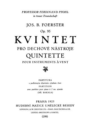 QUINTET Op.95 (Authorised Copy) score & parts
